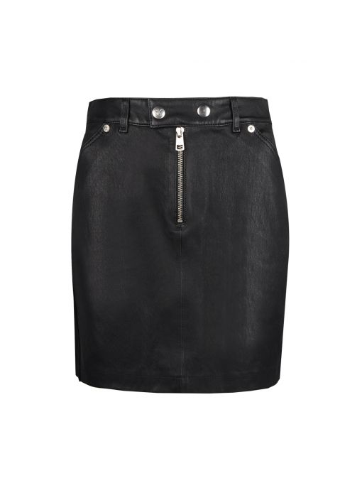 "Calvin Klein Spódnica ""Leather Skirt"""